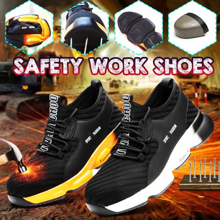 Men's Safety Steel Toe Cap Boots Trainers Hiking Walking Sneakers Shoes for Outdoor Working Hiking Walking Shoes