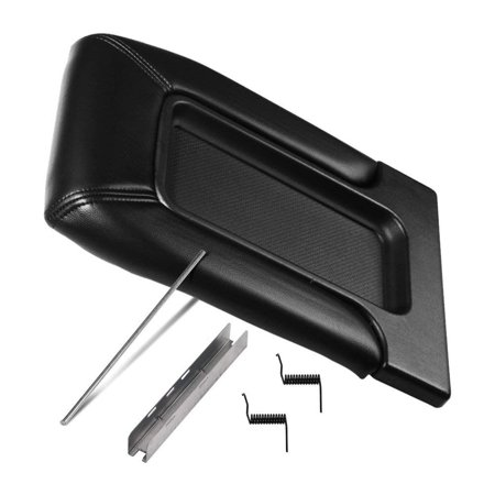 Center Console Lid Replacement Kit Black - Replaces# 924-811, 19127364, 19127365, 19127366, 924-812 - Fits Chevy Silverado, Avalanche, Tahoe, Suburban, GMC Sierra, Yukon - Interior Armrest Hinge (Fit Interior Design)