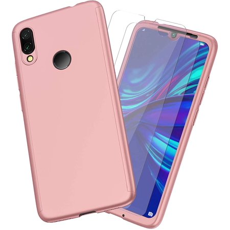 Huawei P Smart 2019 Case,ORETech Huawei P Smart Case with [2 x Tempered Glass Screen Protector] 360 Full Body