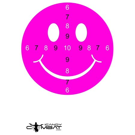 Smiley Face Hot Pink Shooting Practice Targets - Unique Target For Girls