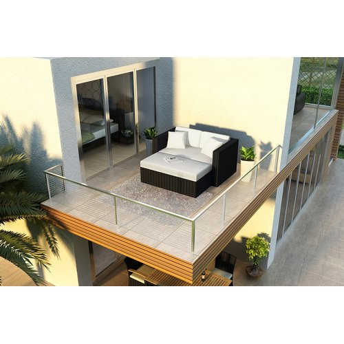 Orren Ellis Azariah Patio Daybed with Cushions