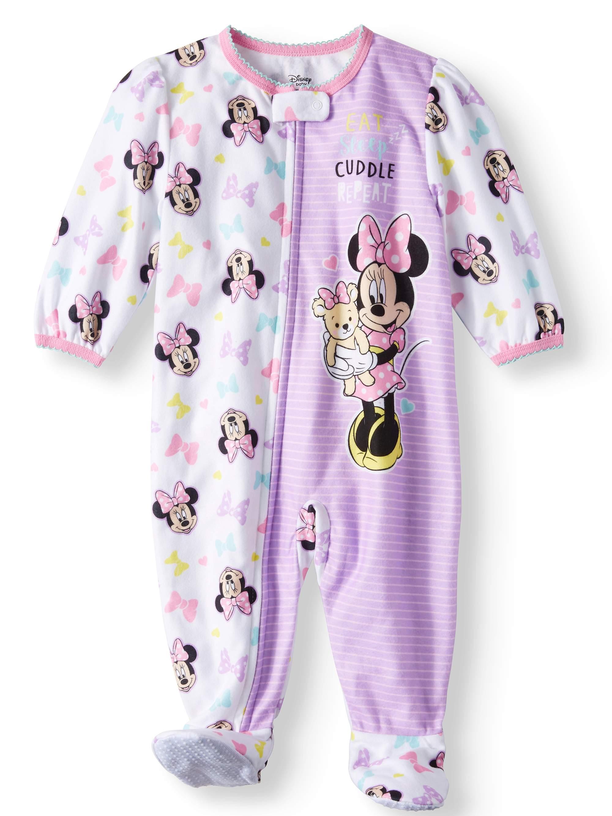 Minnie Mouse Microfleece Footed Blanket Sleeper (Baby Girls)