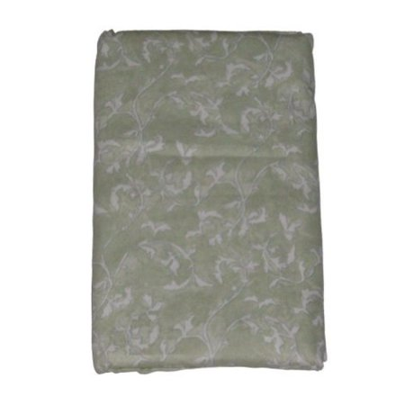 Nalu Sage Green Ivy Fabric Shower Curtain Soft Touch