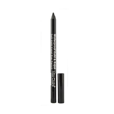 Miss Claire Waterproof Kohl and Kajal Soft Kohl Kajal Pencil, Black Miss Claire Waterproof Kohl and Kajal Soft Kohl Kajal Pencil, Black