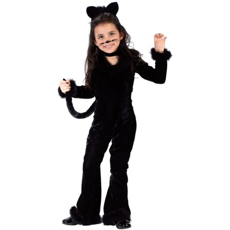 Playful kitty black cat toddler girls costume ()
