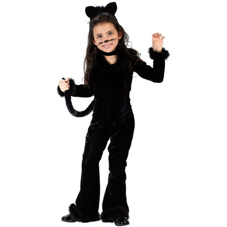 Playful kitty black cat toddler girls costume