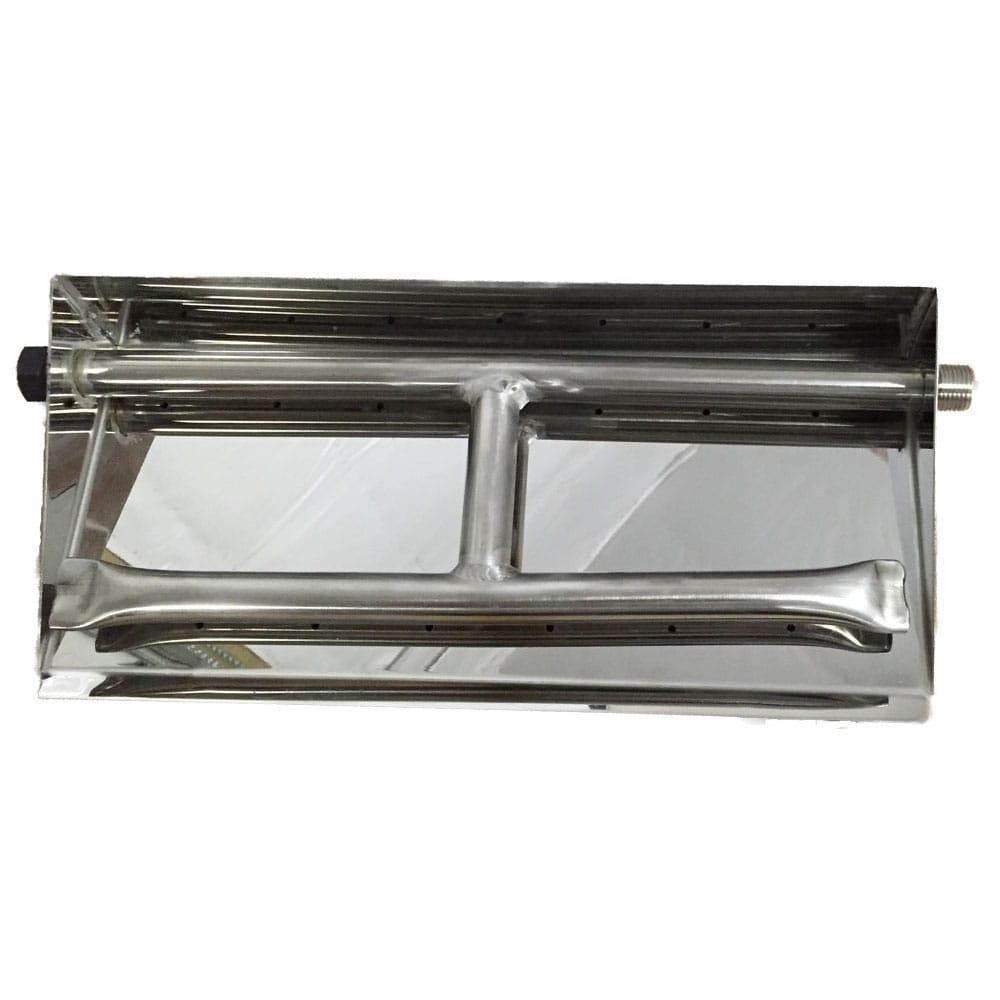 15 inch Stainless Steel Dual Burner Pan LP