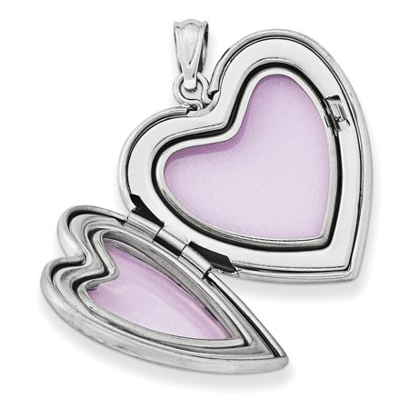 925 Sterling Silver 24mm Enameled Grandma Heart Photo Pendant Charm Locket Chain Necklace That Holds Pictures Fine Jewelry Gifts For Women For Her - image 6 de 7