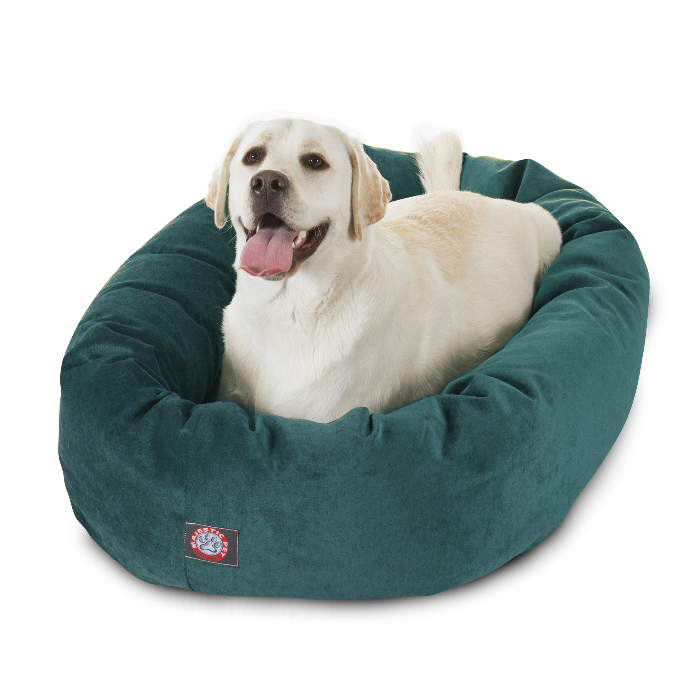 Majestic Pet Products Villa Velvet Bagel Dog Bed