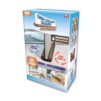 Twin Draft Door Guard Ultimate, Double Sided Insulator and Draft Stopper for Doors and Windows, As Seen on TV