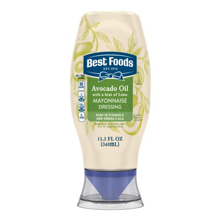(2 Pack) Best Foods Squeeze Mayonnaise Dressing Avocado Oil with a hint of Lime 11.5 (Best Way To Store Unused Avocado)