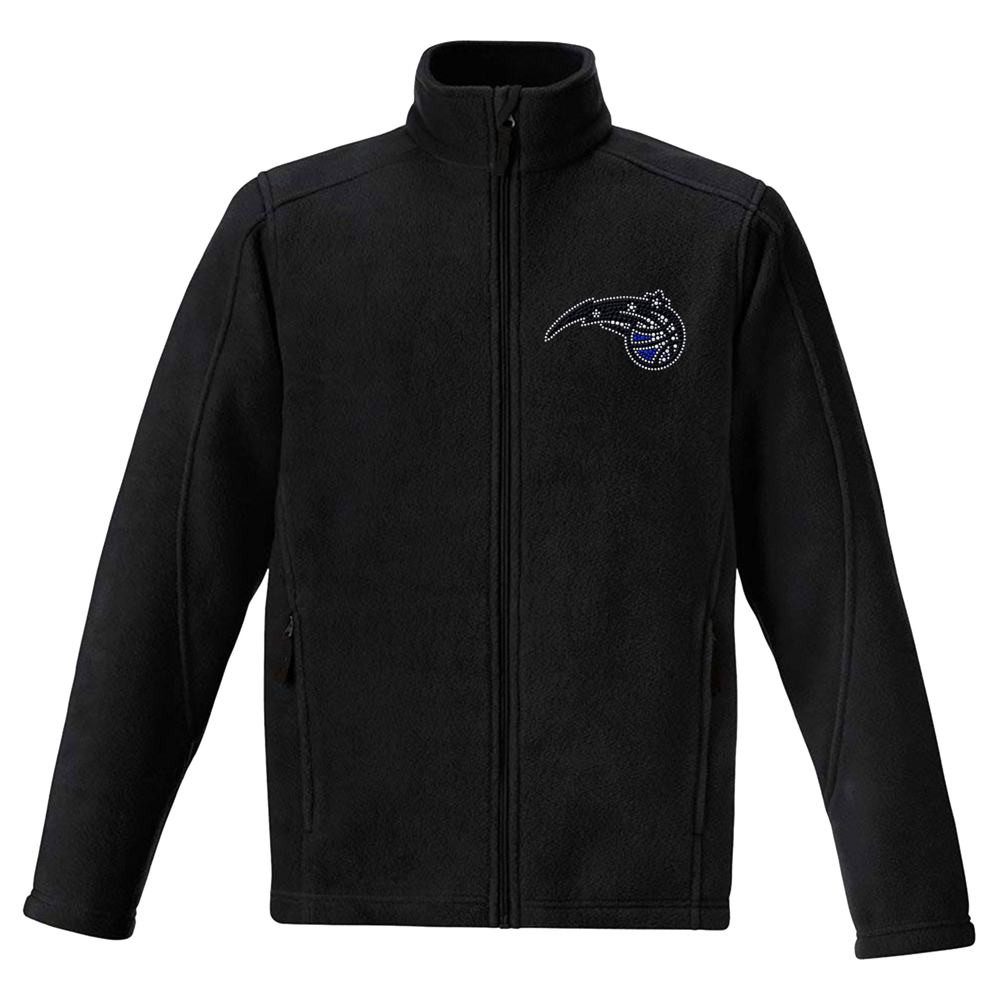 Orlando Magic Women's Rhinestone Full-Zip Fleece Jacket - Black