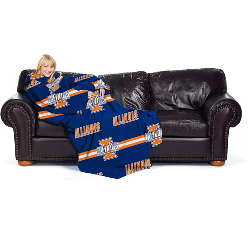 NCAA Illinois Fighting Illini Comfy Throw, Stripes