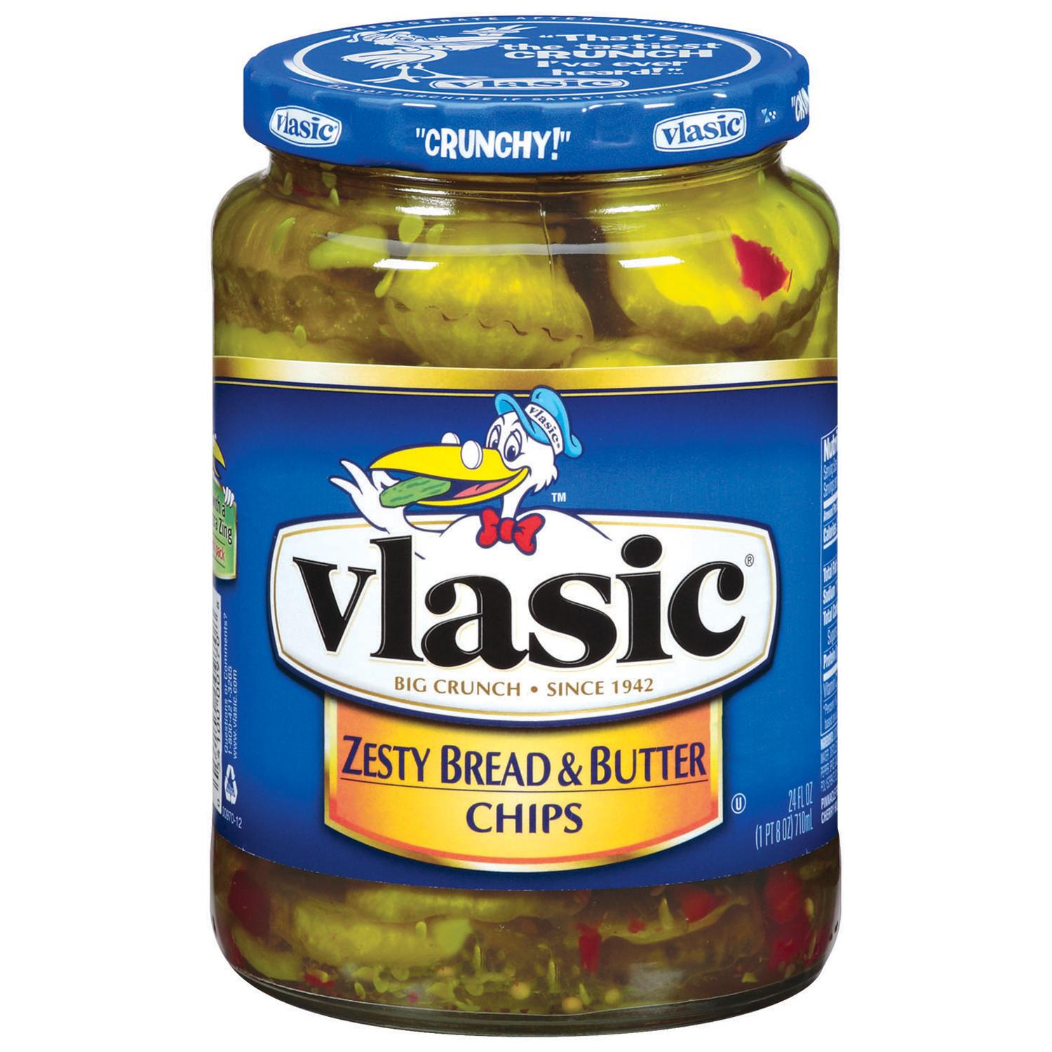 Vlasic Zesty Bread & Butter Chips Pickles 24 Fl Oz Jar