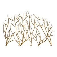 "Uttermost 18796 Bright Gold Leaf Gold Branches 48"" Wide Iron Fire Screen By Jim Parsons"