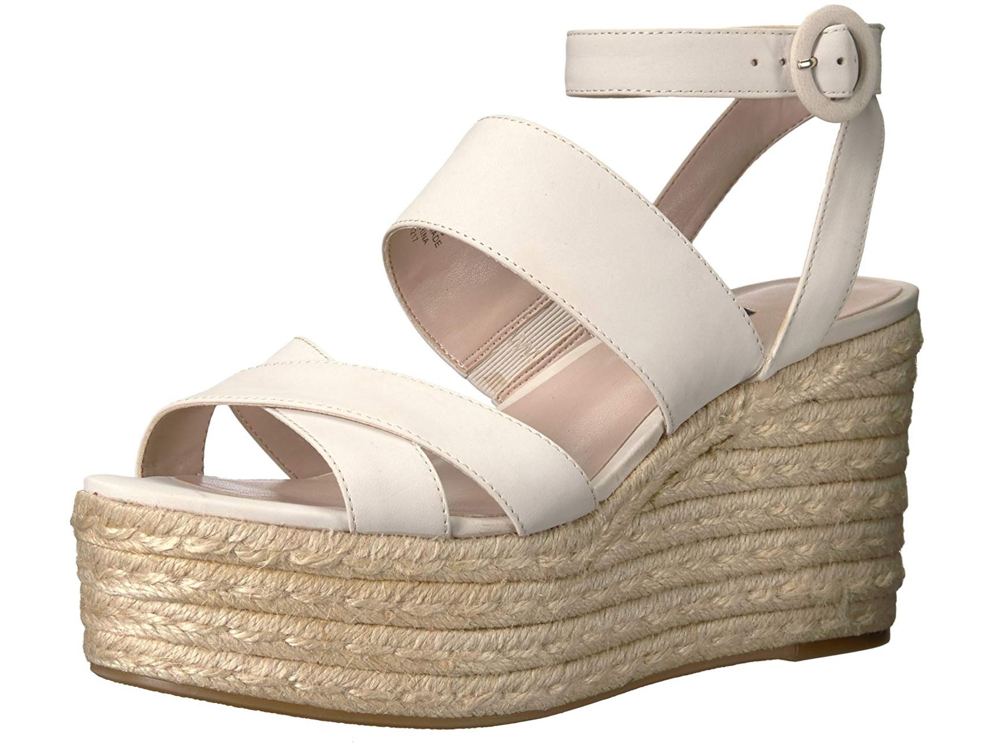 655fec27f0b Nine West Women s KUSHALA Nubuck Wedge Sandal
