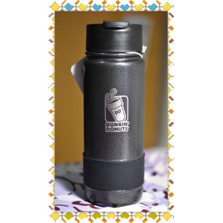 0fea039d222 Dunkin Donuts 18oz Stainless Coffee Travel Mug Tumbler With Silicone Band  (Black) - Walmart.com