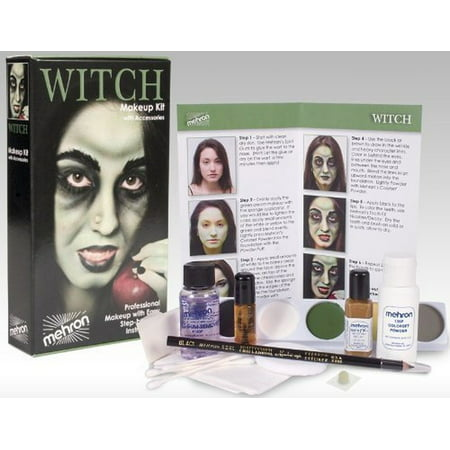 Scary Witch Makeup (Mehron Character Make-Up Kit)