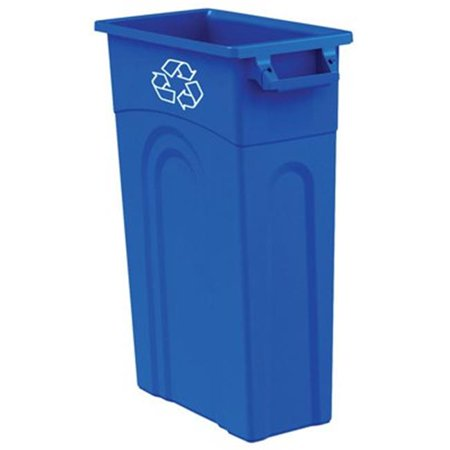 TI0033 23 Gallon Blue Slim Container 23 Gallon Rectangular Waste Containers