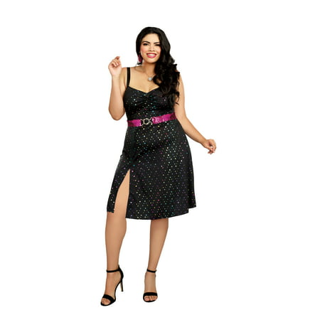 Dreamgirl Women's Plus-Size Disco Diva 70's Costume Dress - Plus Size 70s Costumes