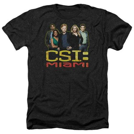 CSI Miami TV Show CBS The Cast In Black Adult Heather T-Shirt Tee