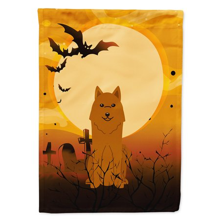 Halloween Karelian Bear Dog Garden Flag - Halloween Bear Dog