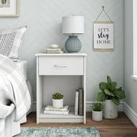 Mainstays 1-Drawer Bedroom Nightstand, Multiple Colors
