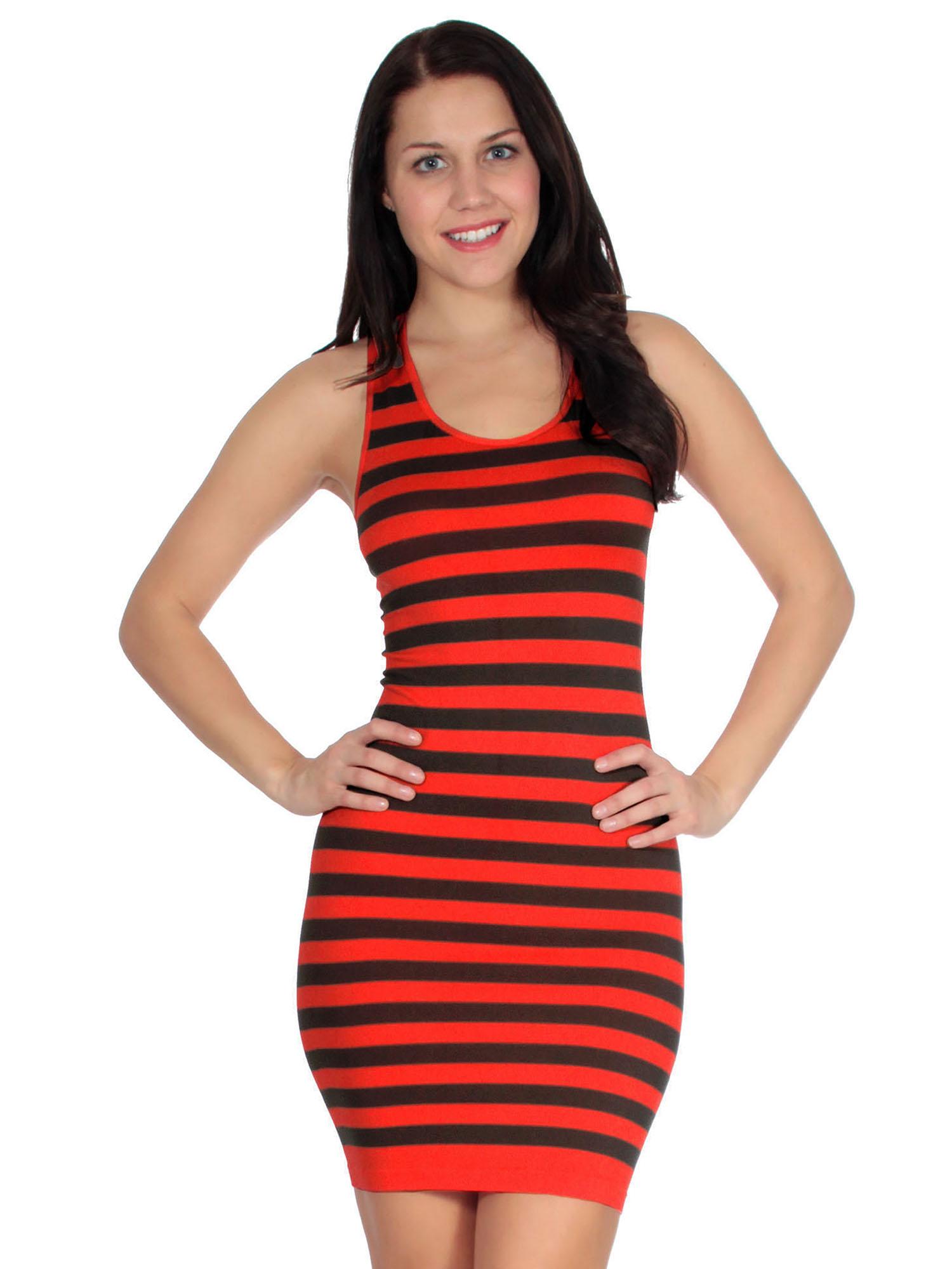 e76b06ecac91 Simplicity - striped mini tank dress in seamless stretch fit fibers -  Walmart.com