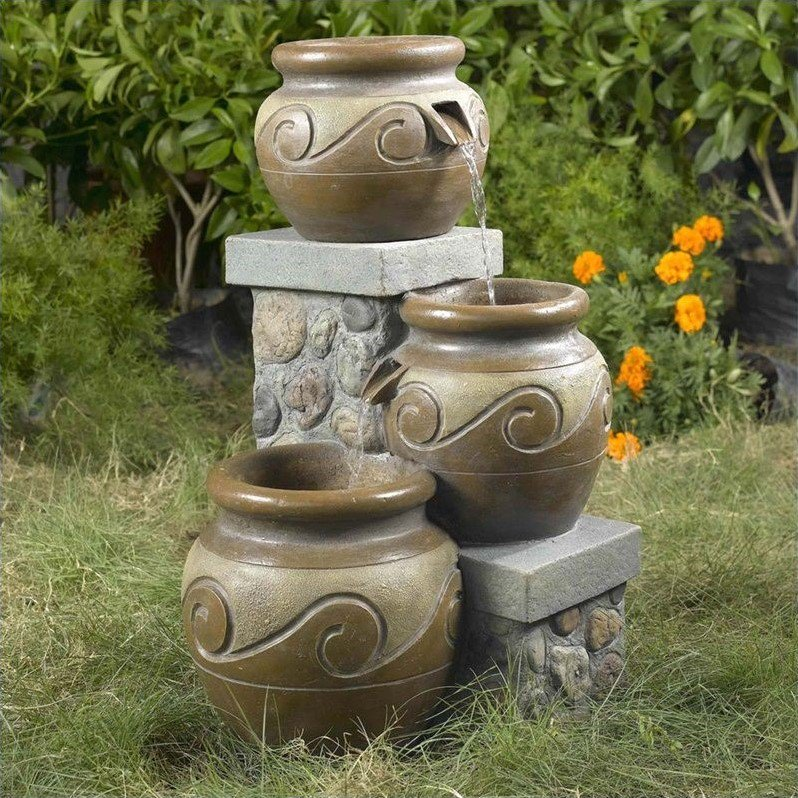 Click here to buy Jeco Venice Multi Pot Outdoor Indoor Fountain by Jeco Inc..
