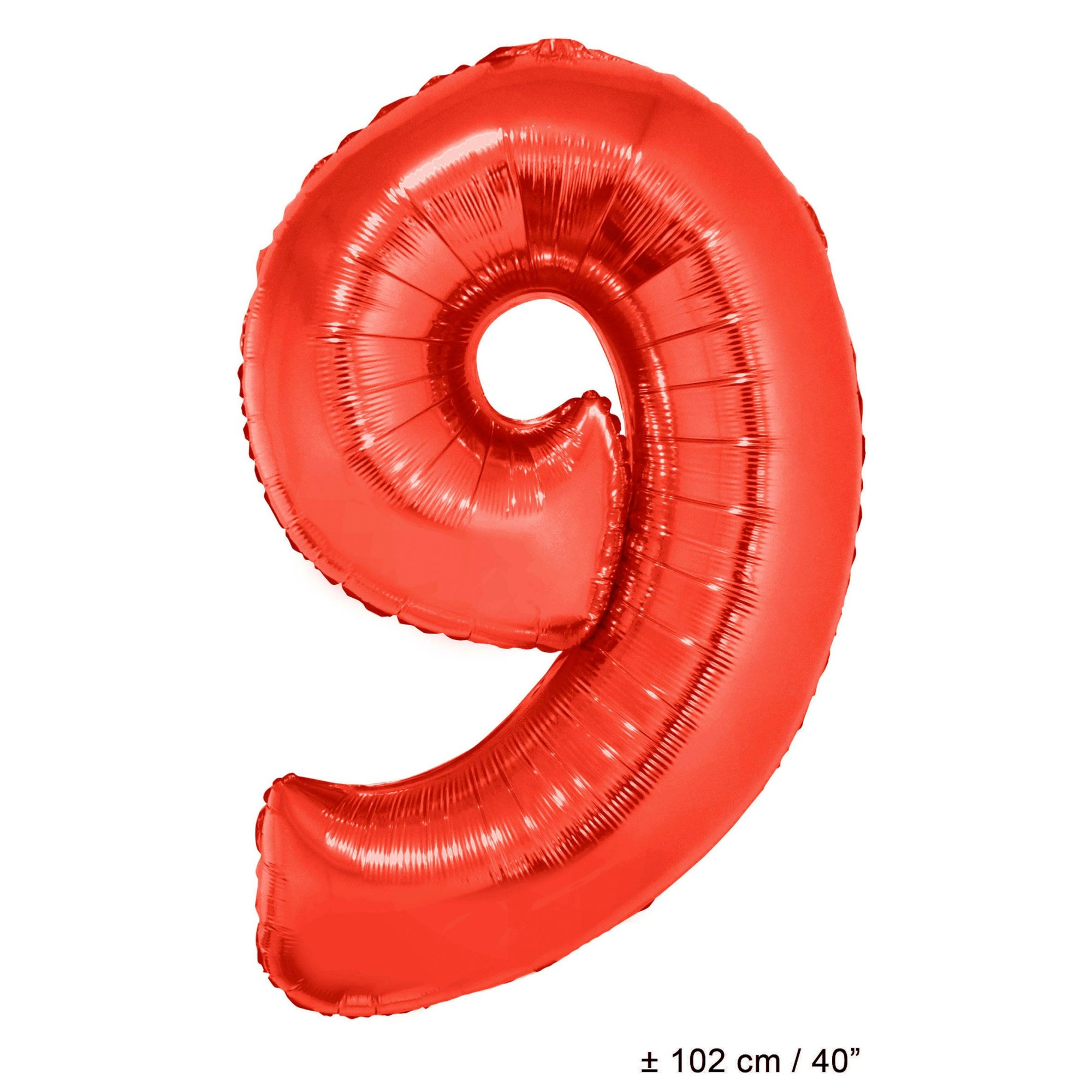 Balloon-foil-number 9-40 U0026quot -red - Walmart Com