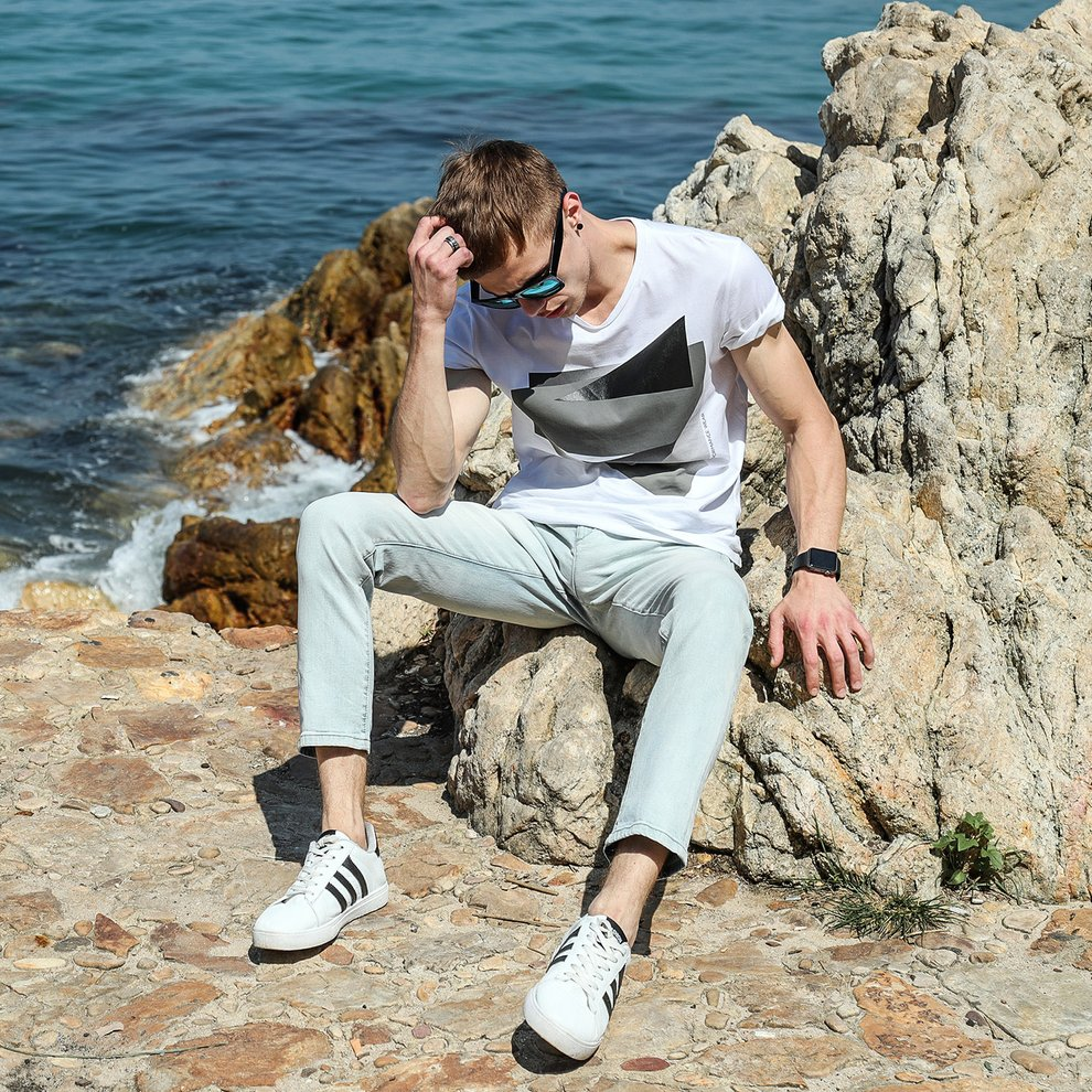 LIGAO Spring And Summer Nine Points Jeans Male Slim Pants...