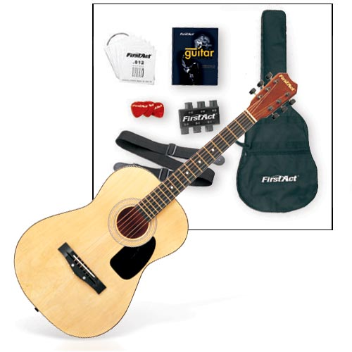 First Act Standard-Size Steel-String Guitar Set