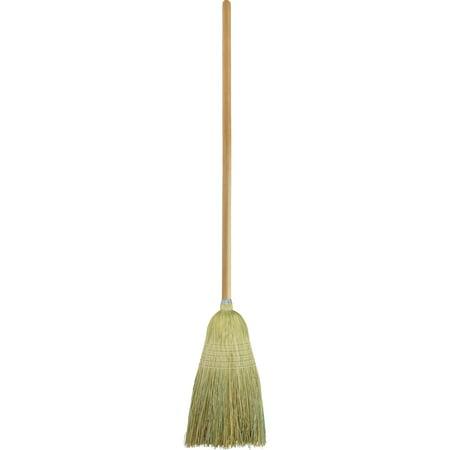 Janitor Corn Broom (Genuine Joe, GJO58563, Janitor Lobby Blend Broom, 1 / Each, Nickel )
