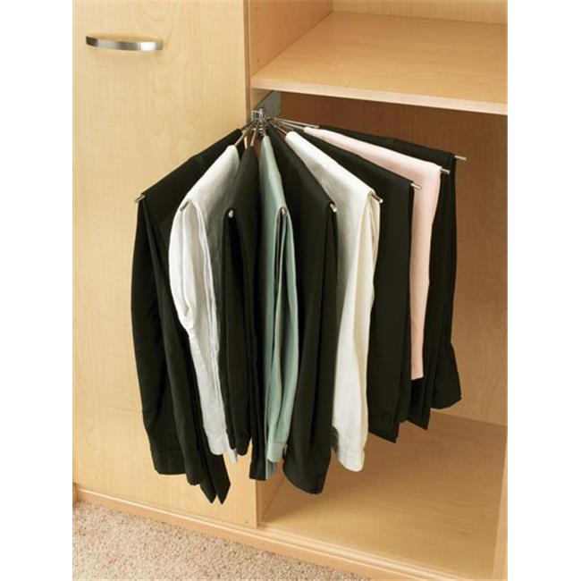 HD RSCPRF.16CR.2 Rev-A- Shelf Wire Fan Pants Rack - Chrome, 16 in.