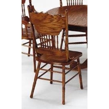 Nostalgia Double Press Back Side Chair Oak Finish By Acme Furniture