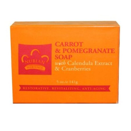 - Nubian Heritage Soap Bar, Carrot and Pomegranate, 5 Ounce