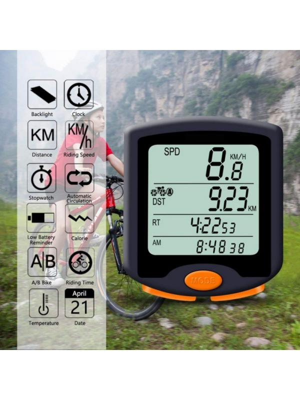 LCD Fahrrad Tacho Kilometerzähler Wasserdicht verkabelt Cycling Bike Computers