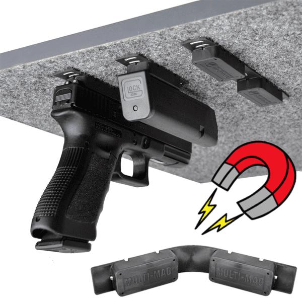 Gun Storage Solutions MULTI_Mag Gun Mounting Magnet (2 Pack) by Gun Storage Solutions