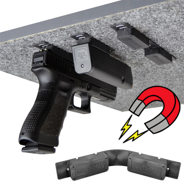 Gun Storage Solutions MULTI_MAG Gun Mounting Magnet (2 Pack)