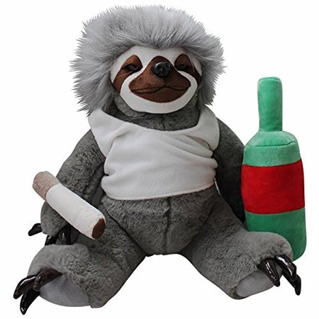 Moochie The Slacker Sloth – Lazy Sloth Plush Stuffed Animals for Adults Funny Gag Gifts Weird Gifts ...