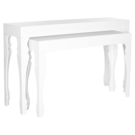 Safavieh Beth French Leg Lacquer Stacking Console, White