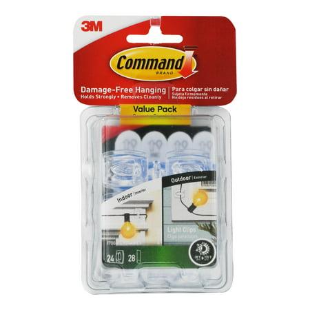Command Indoor/Outdoor Light Clips, 24 hooks, 28 strips (17006CLRAW24ES)
