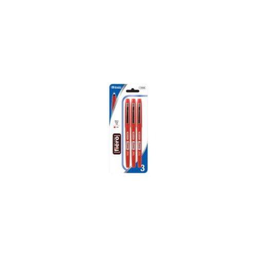 BAZIC Fiero Red Fiber Tip Fineliner Pen 12 Packs of 2