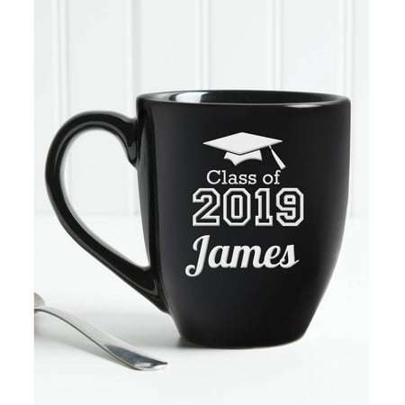 Personalized Graduation Coffee Mug - Black 14.5 oz Bistro](Religious Graduation Gifts)