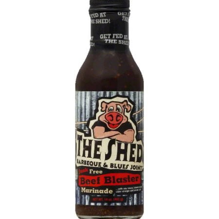 The Bbq Shed Marinade Sauce Beef Blaster Case Of 6