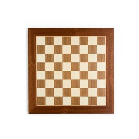 Traditional Chess & Checker Board in Sycamore & Walnut Finishes