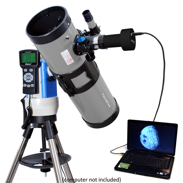 "Twinstar 4.5"" Computerized Reflector Telescope with Camera, Silver by Twinstar"