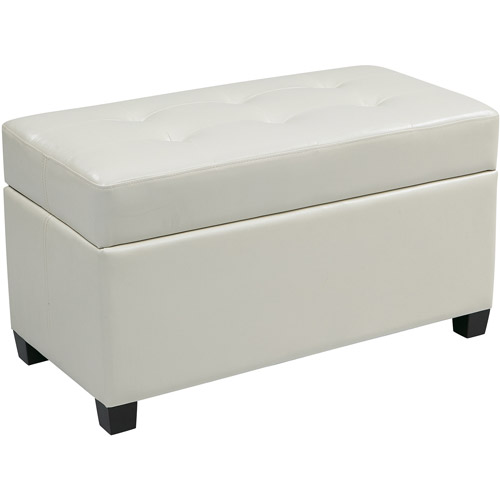 Vinyl Rectangular Storage Ottoman Multiple ColorsWalmartcom