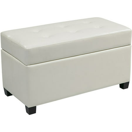 Vinyl Rectangular Storage Ottoman, Multiple Colors - Vinyl Rectangular Storage Ottoman, Multiple Colors - Walmart.com