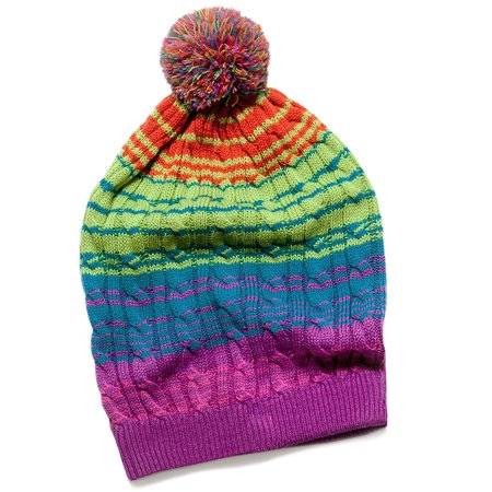 9cafb97ed8c Muk Luks - MUK LUKS Ombre Cable Slouch Beanie - Walmart.com